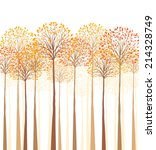 vector autumn tree on a white... | Shutterstock .eps vector #214328749