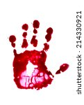 spooky hand print isolated on...   Shutterstock . vector #214330921