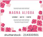 bridal shower invitation... | Shutterstock .eps vector #214333501