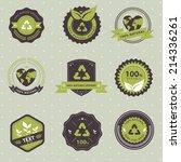 vector set of vintage badge... | Shutterstock .eps vector #214336261