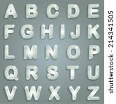 glass alphabet | Shutterstock .eps vector #214341505