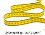 yellow measuring tape isolated... | Shutterstock . vector #21434254