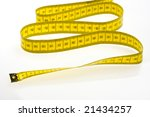 yellow measuring tape isolated... | Shutterstock . vector #21434257