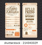 halloween party vintage style... | Shutterstock .eps vector #214343329