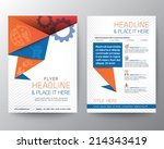 abstract triangle brochure... | Shutterstock .eps vector #214343419