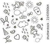 pattern children art  | Shutterstock .eps vector #214350064