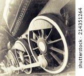 Steam Locomotive Wheels Close...