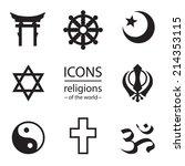 religions of the world.  vector ... | Shutterstock .eps vector #214353115