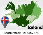 iceland political map with... | Shutterstock .eps vector #214357771