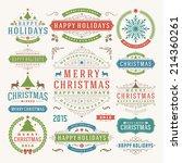 christmas decoration vector... | Shutterstock .eps vector #214360261