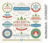 christmas decoration vector... | Shutterstock .eps vector #214360267