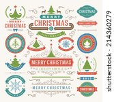 christmas decoration vector... | Shutterstock .eps vector #214360279