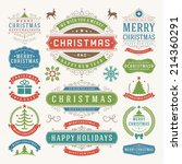 christmas decoration vector... | Shutterstock .eps vector #214360291