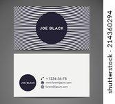 set retro business card. vector ... | Shutterstock .eps vector #214360294