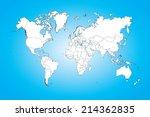 a world map illustration... | Shutterstock .eps vector #214362835