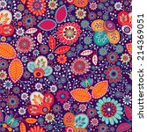 colorful bright seamless pattern | Shutterstock .eps vector #214369051