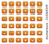 orange game buttons  level...