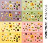 halloween symbols collection.... | Shutterstock .eps vector #214370011
