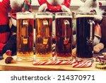 christmas beer tasting | Shutterstock . vector #214370971