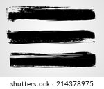 set of three black grunge... | Shutterstock .eps vector #214378975