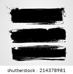 set of three black grunge... | Shutterstock .eps vector #214378981