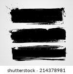 set of three black grunge... | Shutterstock .eps vector #214378981