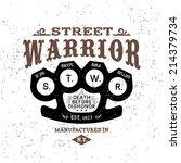 vintage label street warrior  t ... | Shutterstock .eps vector #214379734