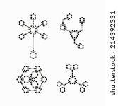molecular structure | Shutterstock .eps vector #214392331