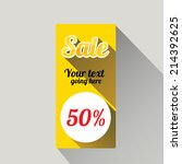 flat design sale discount or... | Shutterstock .eps vector #214392625