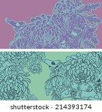vector set of postcard size... | Shutterstock .eps vector #214393174