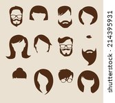 set of flat human icons | Shutterstock .eps vector #214395931