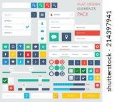 style flat ui kit design... | Shutterstock .eps vector #214397941