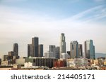 Los Angeles Cityscape On A...