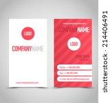 business card set template. red ... | Shutterstock .eps vector #214406491