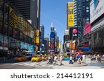 new york city   june 9  times... | Shutterstock . vector #214412191