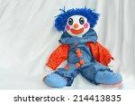 handmade clown doll sit on... | Shutterstock . vector #214413835