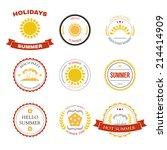 summer design elements and... | Shutterstock .eps vector #214414909