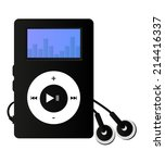 mp3 player with display and... | Shutterstock .eps vector #214416337