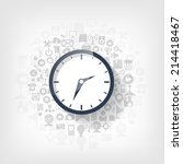 clock flat icon. world time... | Shutterstock . vector #214418467