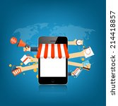 internet shopping concept. e... | Shutterstock . vector #214418857