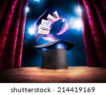 photo composite of a magic hat... | Shutterstock . vector #214419169