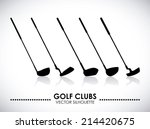 golf design over gray... | Shutterstock .eps vector #214420675