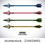 arrows design over gray... | Shutterstock .eps vector #214424401