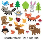 forest animal vector... | Shutterstock .eps vector #214435705