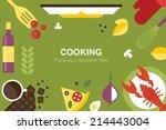cooking desk header   Shutterstock .eps vector #214443004