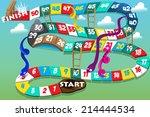 a vector illustration of snakes ... | Shutterstock .eps vector #214444534