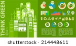 human issues and eco cities... | Shutterstock .eps vector #214448611