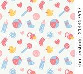 vector seamless baby pattern | Shutterstock .eps vector #214457917