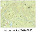 topographic map 2   Shutterstock .eps vector #214460839