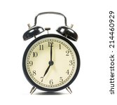 alarm clock on white background | Shutterstock . vector #214460929